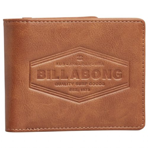 BILLABONG MENS WALLET.NEW WALLED BROWN FAUX LEATHER MONEY CARD COIN PURSE 9W 4/5